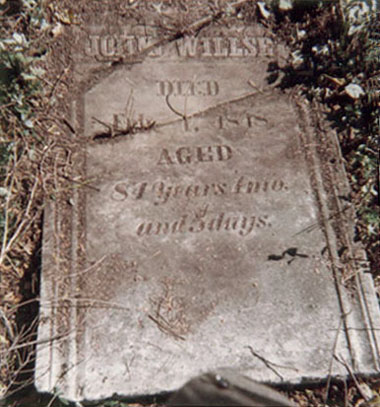 John Willse's headstone, 1963