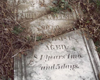 John Willse's headstone, 1973