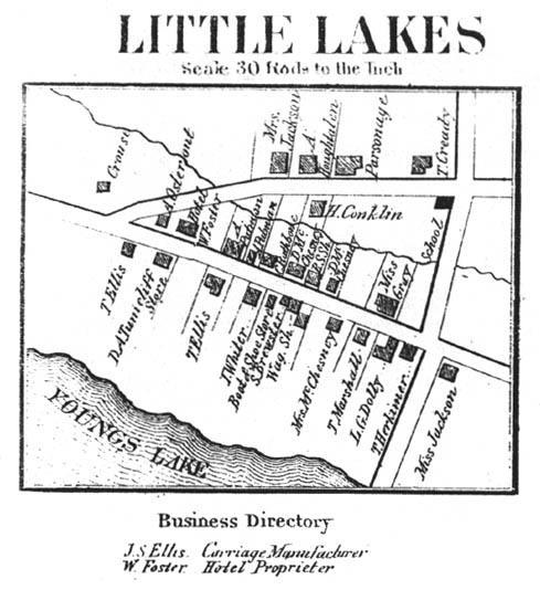 1868 map of Little Lakes