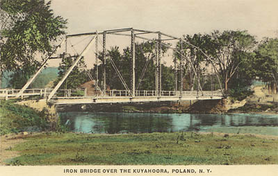 Iron Bridge Over The Kuyahoora, Poland, N.Y.